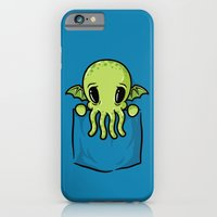 iPhone & iPod Case featuring Pocket Cthulhu by Mike Handy Art