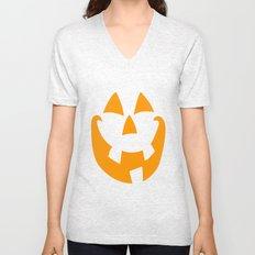 Pumpkin Face Unisex V-Neck