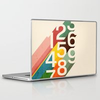 retro Laptop & iPad Skins featuring Retro Numbers by Picomodi