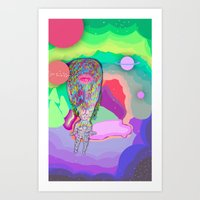 Soul Sailor no.3: Sailing the Universe Art Print