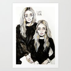 mary kate  and ashley Art Print