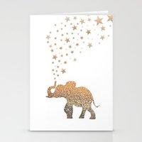 elephant Stationery Cards featuring ELEPHANT by Monika Strigel