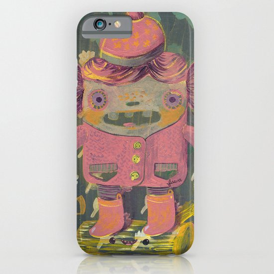 lumberjack girl portrait (sister nature's evil twin) iPhone & iPod Case