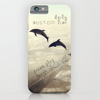 iPhone & iPod Case featuring Dolphins by Paula Belle Flores
