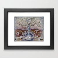 winter in the garden of eden Framed Art Print