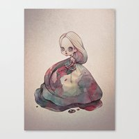 The Girl who Painted Herself Canvas Print