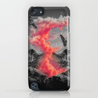 iPod Touch Cases featuring Burn Bright In the Darkness (Volcanic Clouds II) by soaring anchor designs