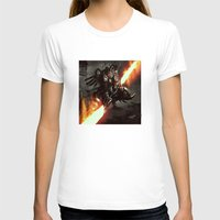 Elite Cyber Swordsman Upgrade Womens Fitted Tee White SMALL