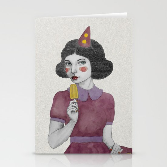 Andria dressed more colourful Stationery Card