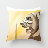 Persepolis Lion Throw Pillow