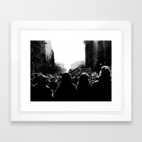 March for Life Framed Art Print