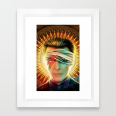 Bowie comic book Tribute cover Framed Art Print