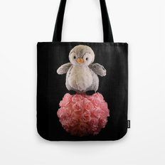 Frenchie the Penguin Tote Bag