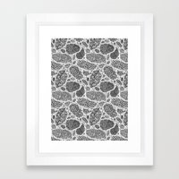 Nugs in Black and White Framed Art Print