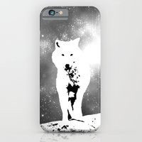 iPhone & iPod Case featuring Walking on the moon Wolf by YAP9
