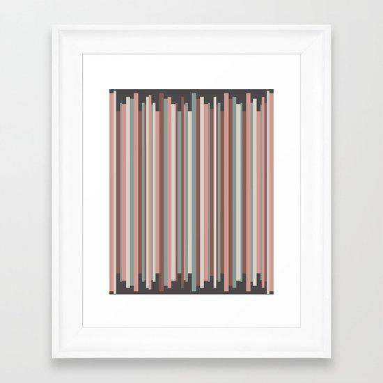 Aztec Wave Framed Art Print