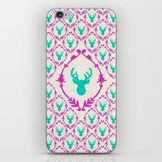 Oh Deer (teal) iPhone & iPod Skin