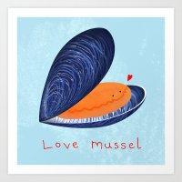 Love Mussel Art Print