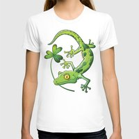 T-shirt featuring Saint Patrick's Day Gecko by Zoo&co on Society6 Products