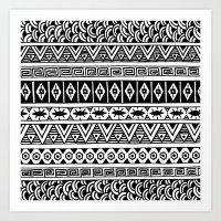 Black And White Geometri… Art Print