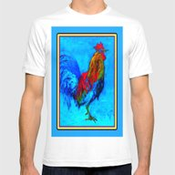 T-shirt featuring Colorful Rooster Paintin… by SharlesArt