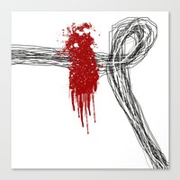 Blood On The Outside Canvas Print