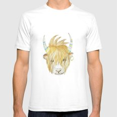 Yakety Yak Striped Illustration  Mens Fitted Tee White SMALL