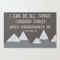 I CAN // Philippians 4:1… Canvas Print