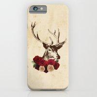 Stag, deer, flowers, vintage, roses, rustic iPhone 6 Slim Case