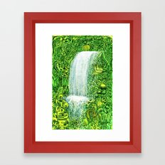 waterfall in tropical forest Framed Art Print