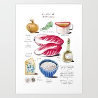 Illustrated Recipes: Ris… Art Print