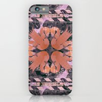 iPhone & iPod Case featuring Flamingos  by Galvanise The Dog