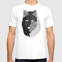 Wolf Mask Mens Fitted Tee White SMALL