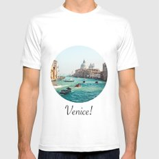 Venice! White Mens Fitted Tee SMALL