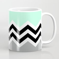 DOUBLE COLORBLOCK CHEVRON {MINT/BLACK/GRAY} Mug