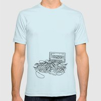 Relax & Unwind on white Mens Fitted Tee Light Blue SMALL
