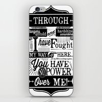 Labyrinth Quote You Have No Power Over Me iPhone & iPod Skin