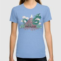 The Not-So-Lonely Mountain Womens Fitted Tee Tri-Blue SMALL