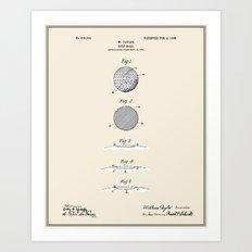 Golf Ball Patent - Colou… Art Print