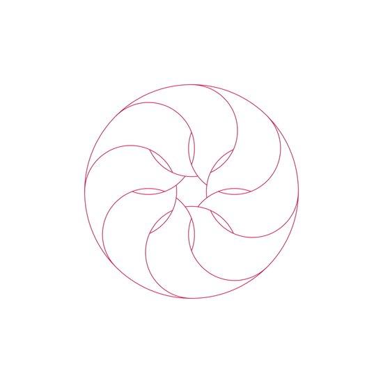#401 Inside the nautilus – Geometry Daily Art Print