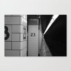 23 Canvas Print