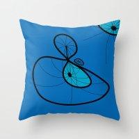 blue pearl Throw Pillow