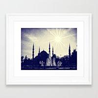 Blue Istanbul Framed Art Print