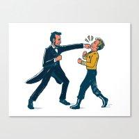 Abe Lincoln VS Captain Kirk Canvas Print