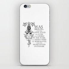 Alice In Wonderland Jabberwocky Poem iPhone & iPod Skin