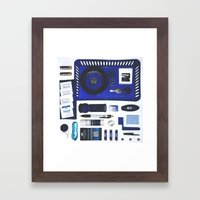 Junk Drawer: Azure Framed Art Print