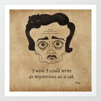 Poe Cat Art Print