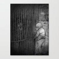 The old man and the monkey Canvas Print