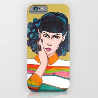 iPhone & iPod Case featuring What is she thinking? by Jessica Tobin