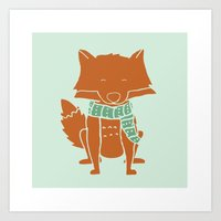 Fox Buddy Art Print